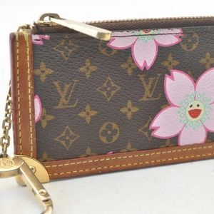 LOUIS VUITTON Monogram Cherry Blossom Key Pouch
